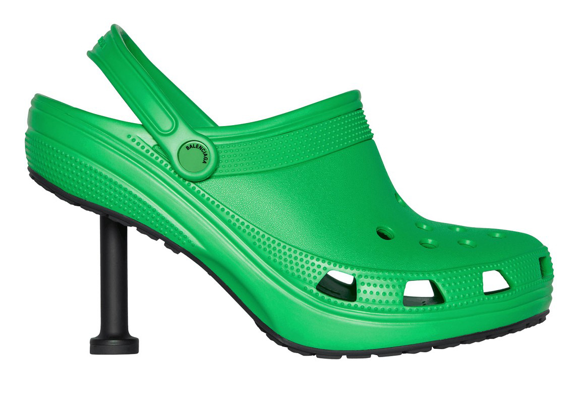 Dép Crocs cao gót của Balenciaga. Ảnh: Balenciaga.
