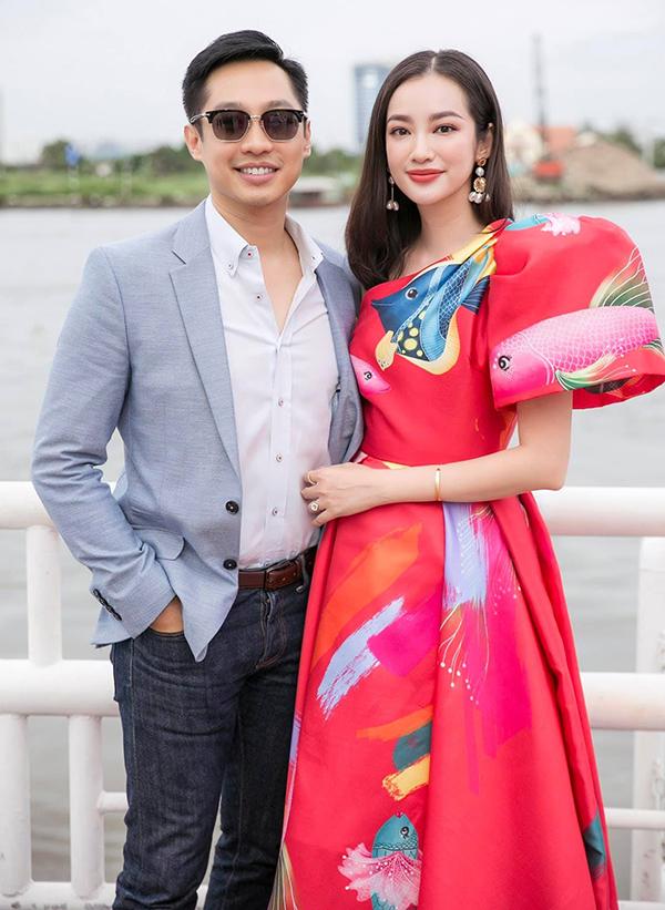 Trương Tri Trúc Diễm bên chồng - John Từ trong một sự kiện thời trang năm 2019. Ảnh: Nhân vật cung cấp.