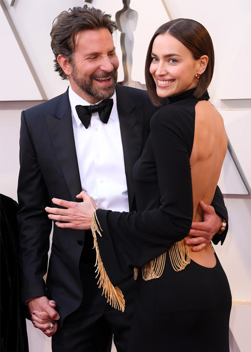 Irina Shayk hẹn hò tài tử Bradley Cooper năm 2015. Lúc đó, nam diễn viên mới chia tay người mẫu Suki Waterhouse. Hai người công khai tình cảm tại sự kiện LOréal Red Obsession thuộc tuần lễ thời trang mùa xuân Paris 2016. Vài tháng sau, Shayk báo tin đang mang thai. Cô sinh con gái đầu lòng Lea de Seine Shayk Cooper tháng 3/2017 và cả ba chuyển tới định cư ở California để Cooper tập trung đóng phim.Trong suốt thời gian hẹn hò, cặp sao kín tiếng về mối quan hệ và không kết hôn.  Giữa năm 2019, hai người quyết định chia tay và cùng nuôi con. Shayk chuyển tới New York cùng Lea. Cooper ở lại California và thường xuyên tới thăm con. Một nguồn tin thân cận cho biết tình cảm của họ rạn nứt khi Cooper quá tập trung cho dự án phim A Star is Born cùng Lady Gaga. Sau khi hoàn thành bộ phim, tài tử người Mỹ cố gắng hàn gắn với Shayk nhưng không thành công.