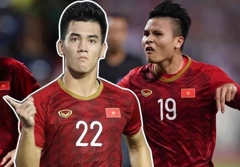 Quỳnh Thư đăng ảnh Tiến Linh, Quang Hải kèm dự đoán một trong cầu thủ ghi bàn trong trận gặp UAE sáng 16/6. Ảnh: Facebook Quỳnh Thư.