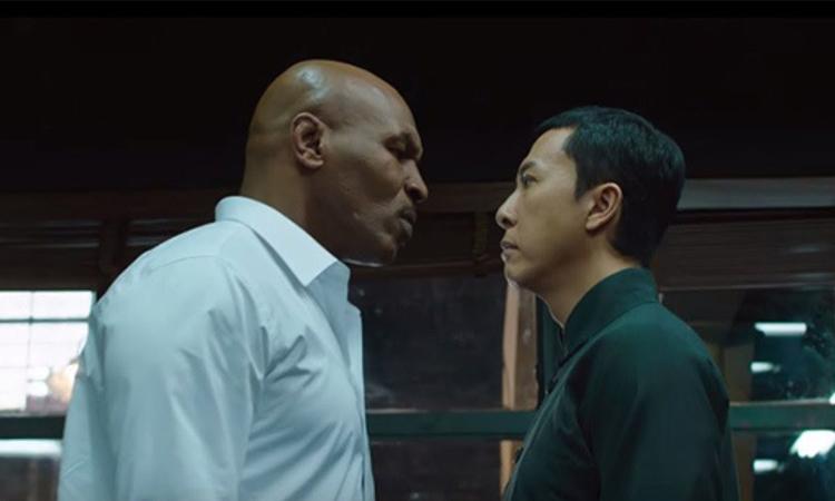 Mike Tyson (trái) và Chân Tử Đan trong Diệp Vấn 3. Ảnh: Pegasus Motion Pictures/