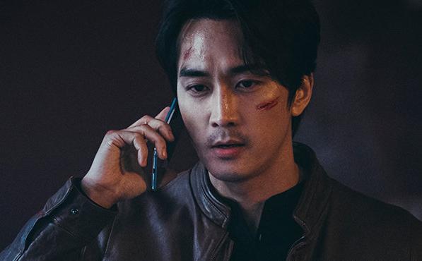 Tạo hình cảnh sát của Song Seung Hun. Ảnh: tvN.