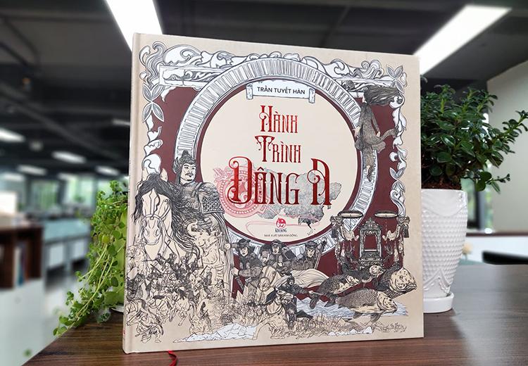 Bìa sách Hành trình Đông A - phát hành đầu tháng 7. Ảnh: NXB Kim Đồng.