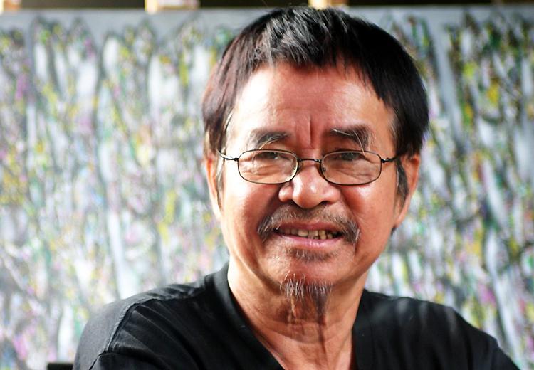 Họa sĩ Hoàng Đăng Nhuận (1942 - 2021). Ảnh: Lý Đợi.