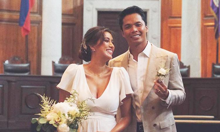Rachel Peters (trái) bên chồng mới cưới Migz Villafuerte. Ảnh: Rachel Peters Instagram.