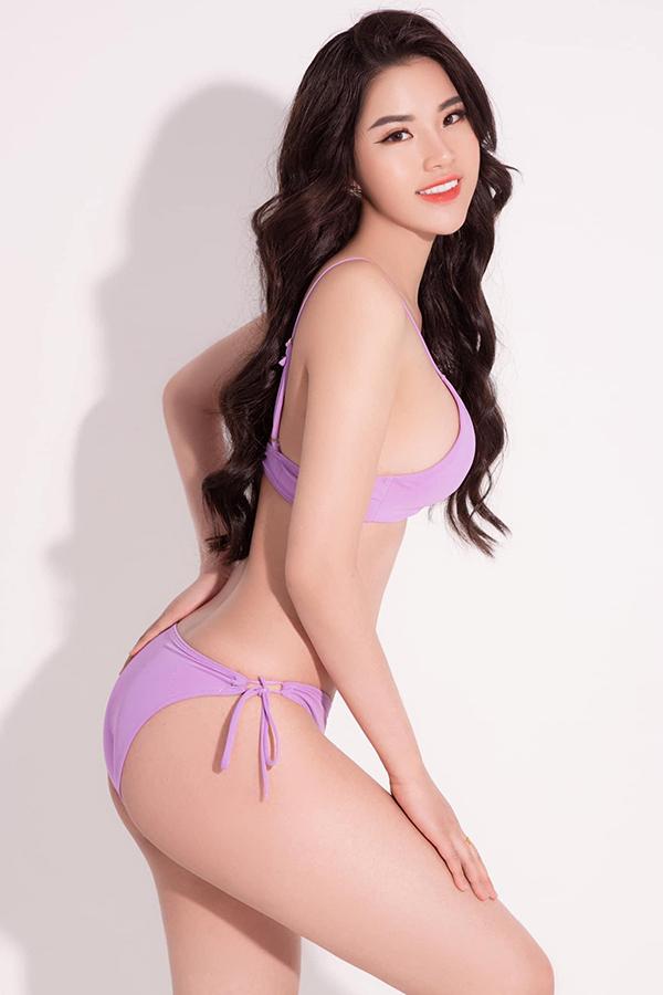 Nguyễn Hà My, sinh năm 2000, quê Nam Định. Cô gây chú ý với chiều cao 1,76 m - nằm trong top đầu cuộc thi, số đo ba vòng 90-64-94 cm, nặng 54kg.