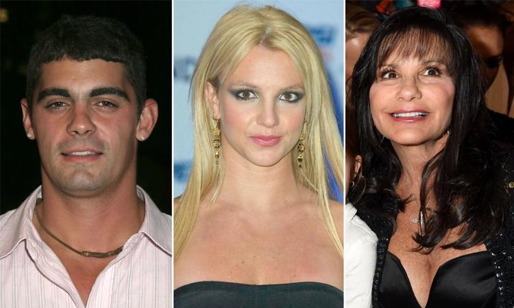 Jason Alexander, Britney Spears và Lynne Spears (thứ tự từ trái qua). Ảnh: Pagesix.