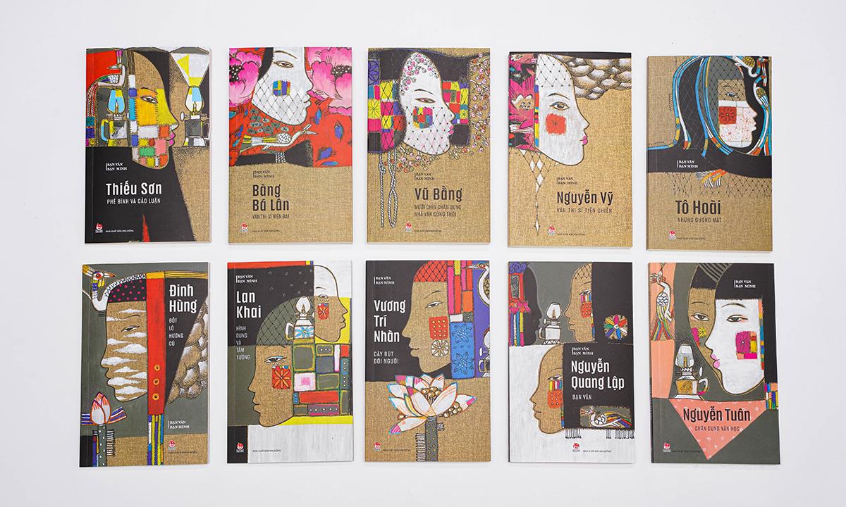 10 cuốn sách trong bộ Bạn văn bạn mình. Ảnh: Kim Đồng.