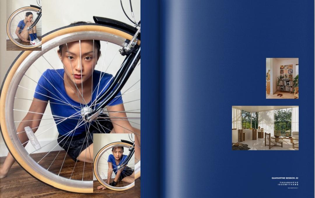 Chiếc xe đạp thể thao cũng trở thành đạo cụ sáng tạo của hai anh em.