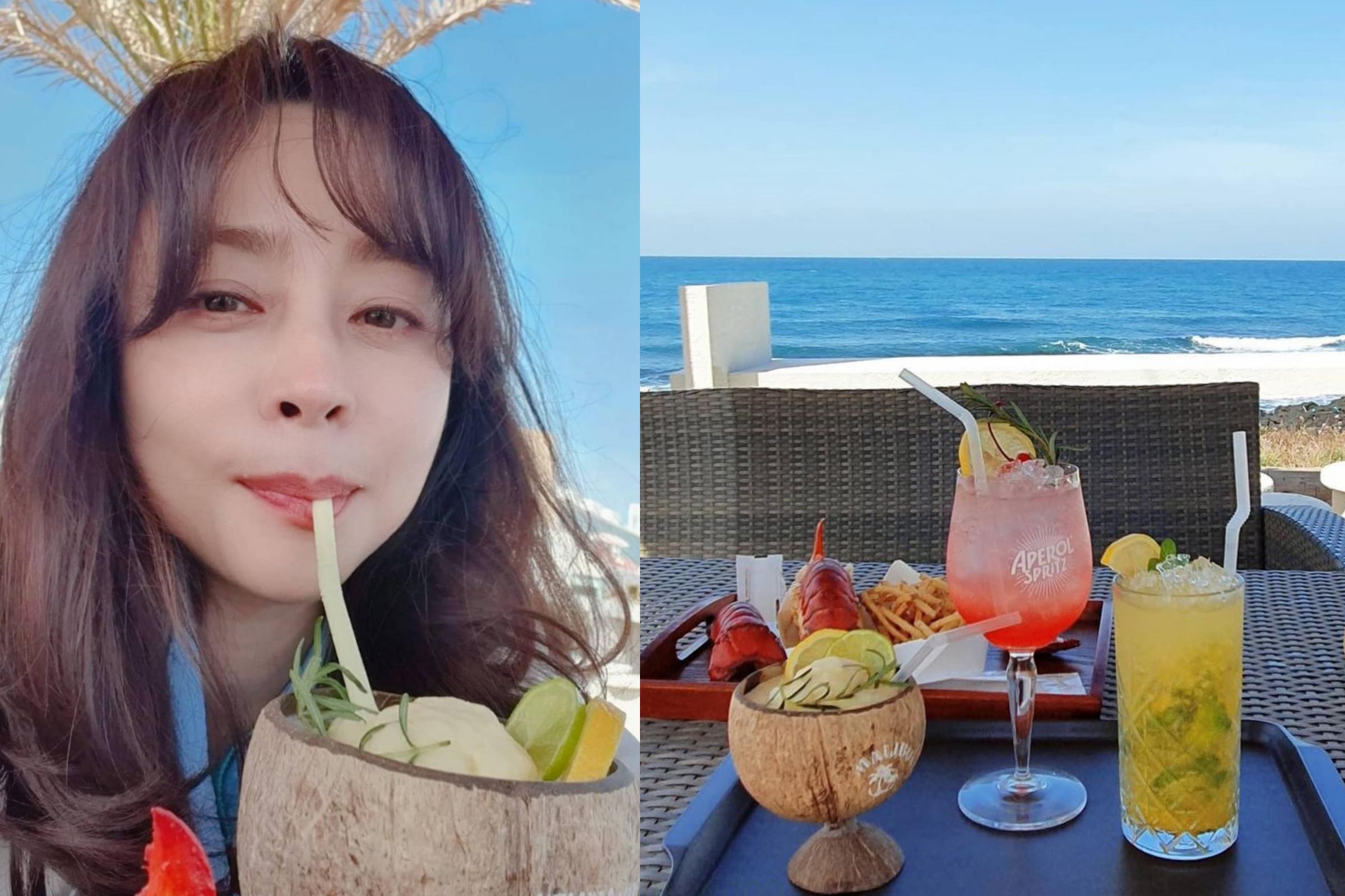 Hee Jin dành thời gian tận hưởng cuộc sống.