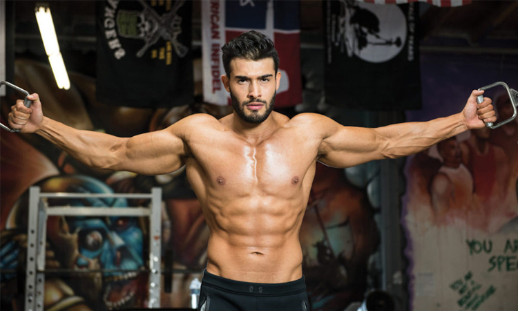 Sam Asghari is a professional fitness trainer in Hollywood.  Photo: Mens Health