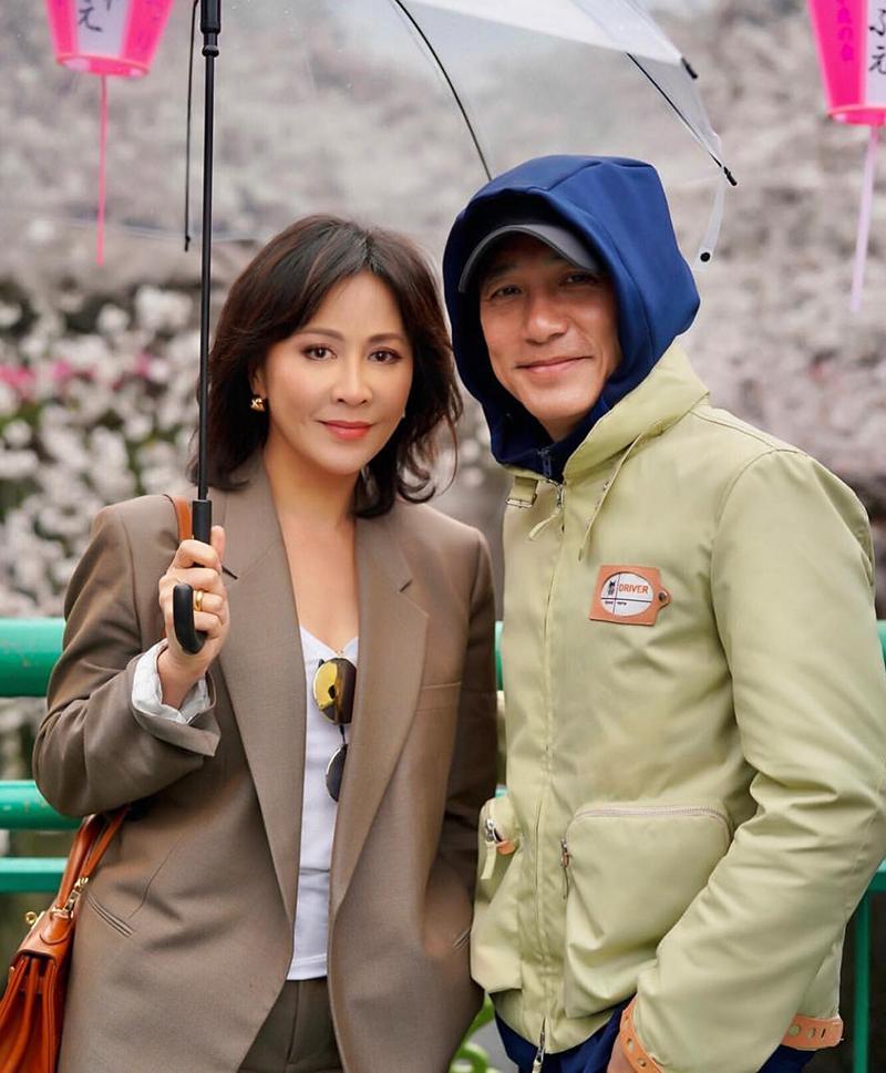 Vợ chồng Lương Triều Vỹ dạo chơi năm 2019. Ảnh: Instagram/Liu Jialing