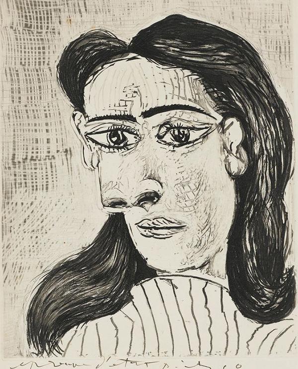 Bức Head of Woman, No. 3 (Dora Maar) của Picasso. Ảnh: ARS, New York