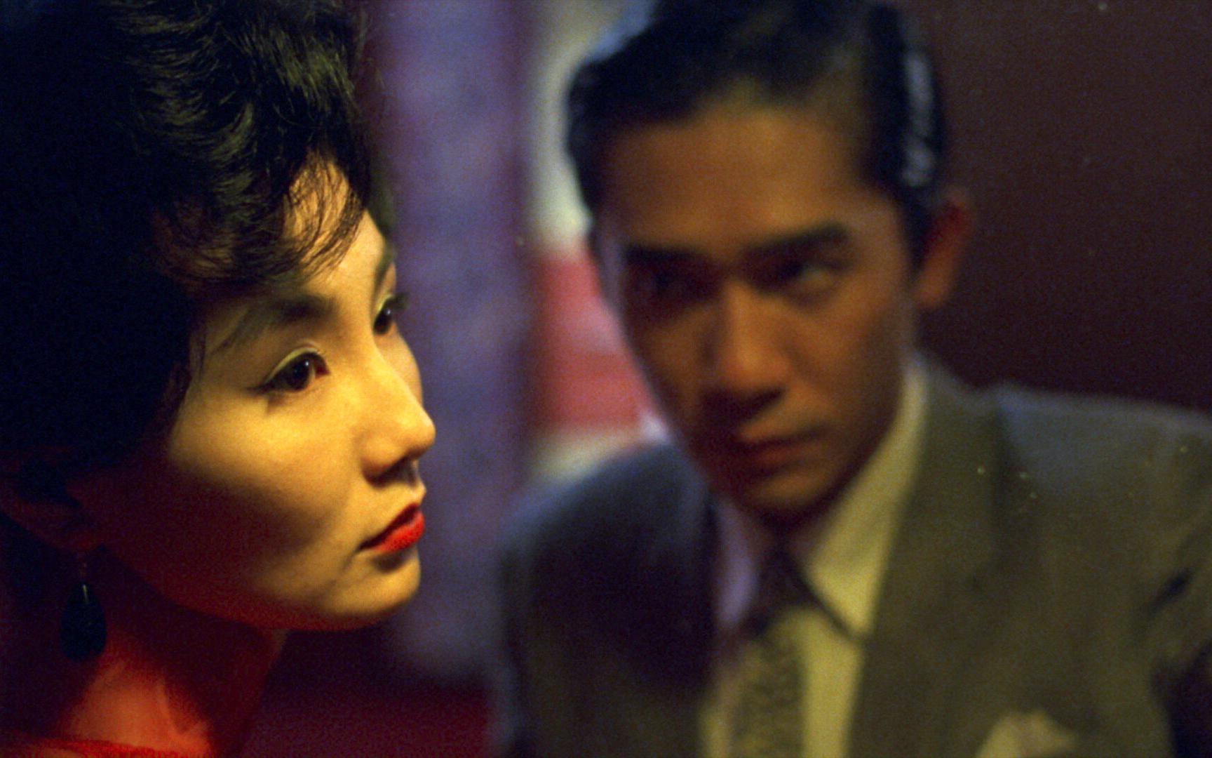 Lương Triều Vỹ và Trương Mạn Ngọc trong Tâm trạng khi yêu. Ảnh: The Criterion Collection
