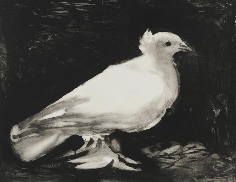 Picasso's The Dove.  Photo: ARS, New York
