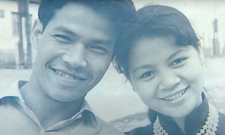 Vợ chồng nghệ sĩ Ngô Mạnh Lân - Ngọc Lan thuở đôi mươi. Ảnh: Youtube Đinh Tiến Vũ