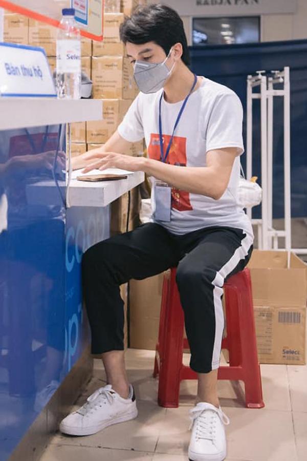 Dương Thanh Vàng tiếp tục trở lại nhóm tình nguyện sau khi khỏi bệnh. Ảnh: Nhân vật cung cấp