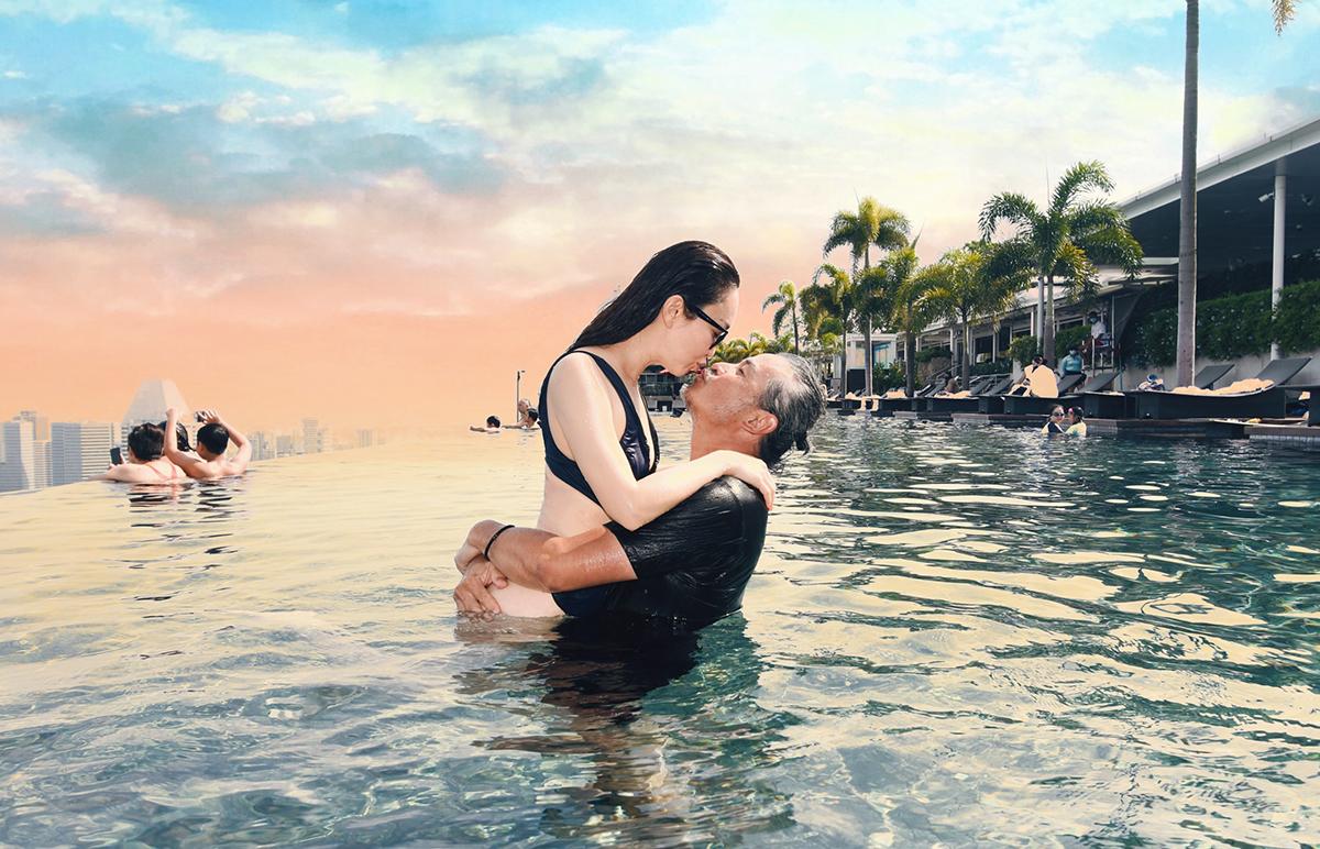 Đôi diễn viên kết hôn 12 năm, có con trai bảy tuổi. Văn Phương, Minh Thuận từng đóng cặp nhiều tác phẩm gây sốt ở châu Á như Thần điêu đại hiệp, Thanh xà Bạch xà, Truyền thuyết Hằng Nga, Tình yêu thời SARS...