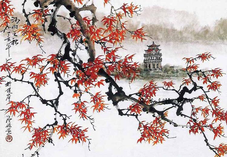 Trương Hán Minh dành nhiều tâm sức vẽ các thắng cảnh của đất nước.