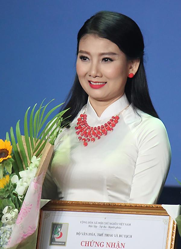 Đơn vị Nhà hát 5B Võ Văn Tần của Mỹ Uyên đoạt nhiều giải với vở Gương mặt kẻ khác tại Liên hoan Kịch nói năm 2018. Lần này, chị không tham gia tranh giải. Ảnh: Mai Nhật