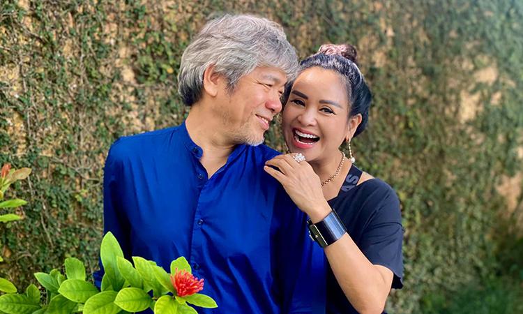 Thanh Lam và bạn trai - bác sĩ Tiến Hùng - yêu nhau từ giữa năm ngoái. Ảnh: Facebook Doan Thanh Lam