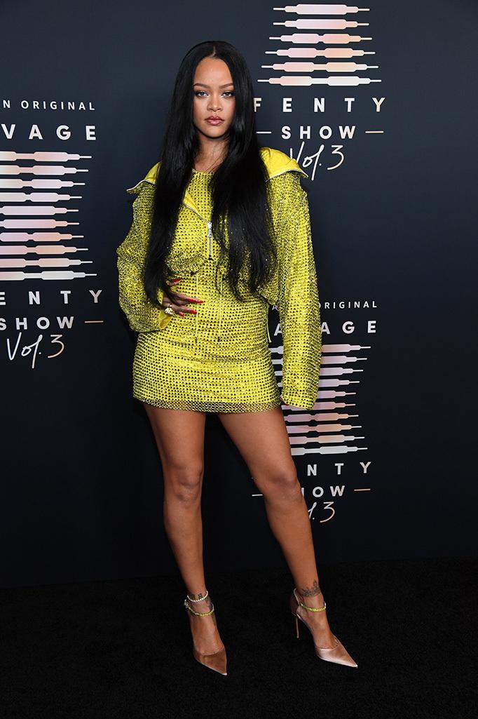 Rihanna tại buổi ra mắt show diễn nội y Savage x Fenty Vol. 3 ở Los Angeles. Ảnh: AFP