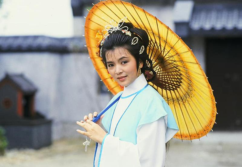 Nữ diễn viên đóng Ngu Cơ trong Sở hà Hán giới (1985).