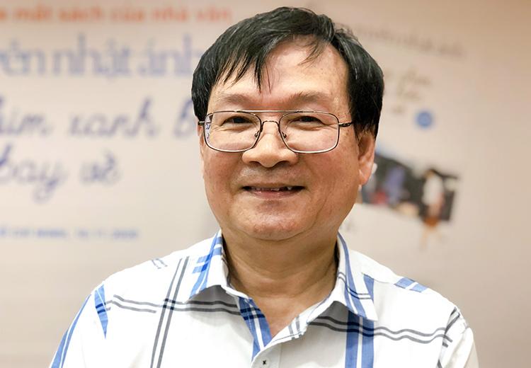 Nguyễn Nhật Ánh trong buổi ra mắt sách năm 2020. Ảnh: Mai Nhật