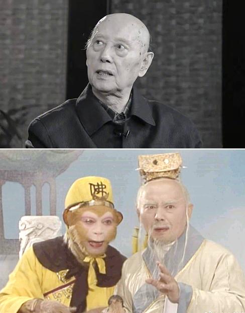 Lục Tiểu Linh Đồng (vai Tôn Ngộ Không, trái) đăng ảnh tưởng nhớ Chu Bỉnh Khiêm. Ảnh: Weibo/Liuxiao Lingtong