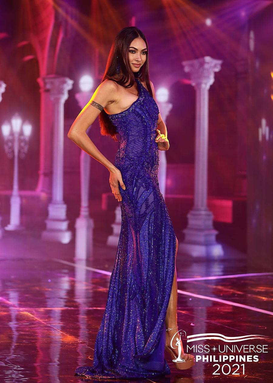 Beatrice Luigi Gomez trình diễn trong đêm thi. Ảnh: MUP