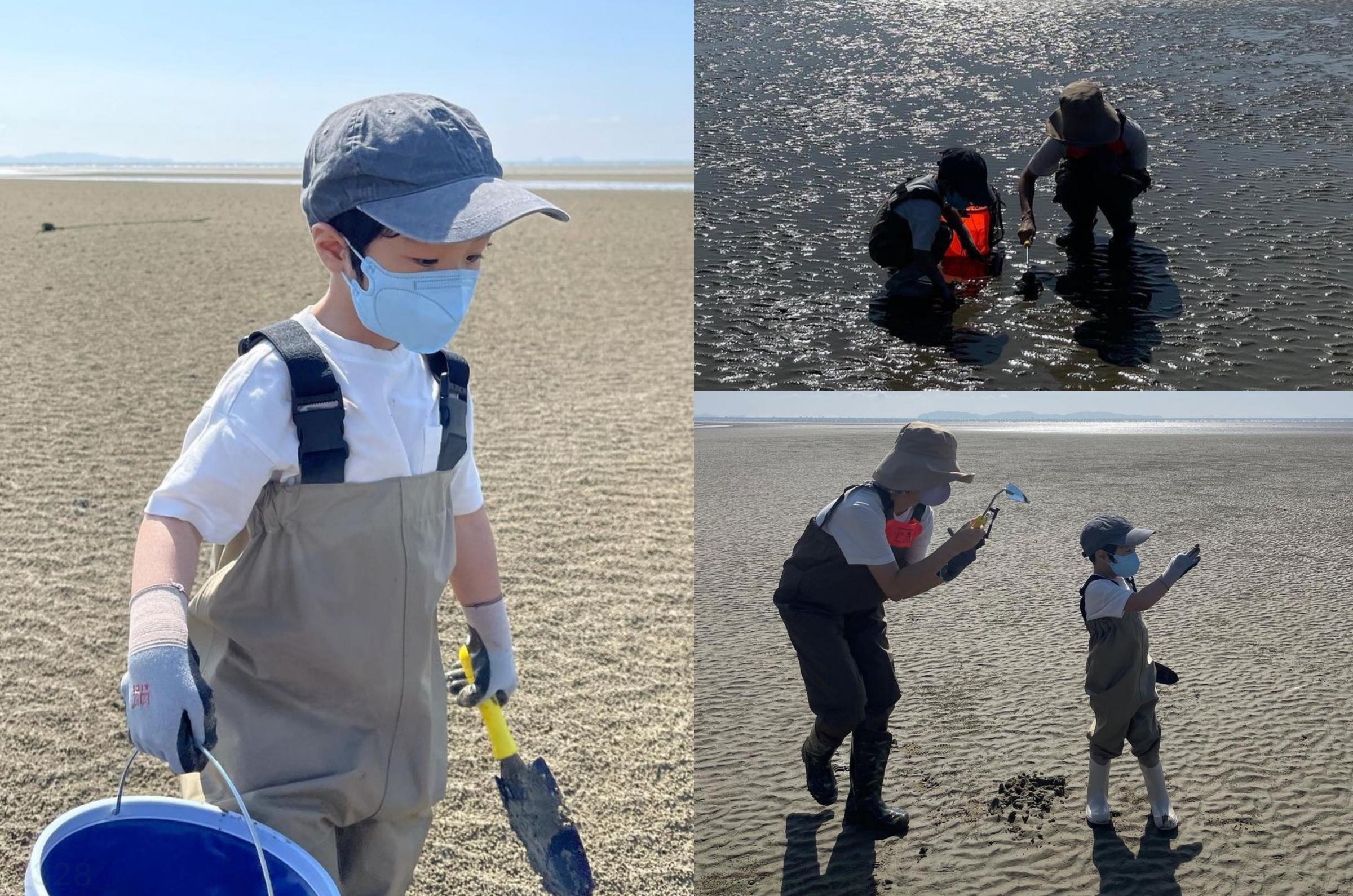 Chae Rim chia sẻ khoảnh khắc vui chơi trên biển cùng con. Ảnh: Instagram Chaelim_328