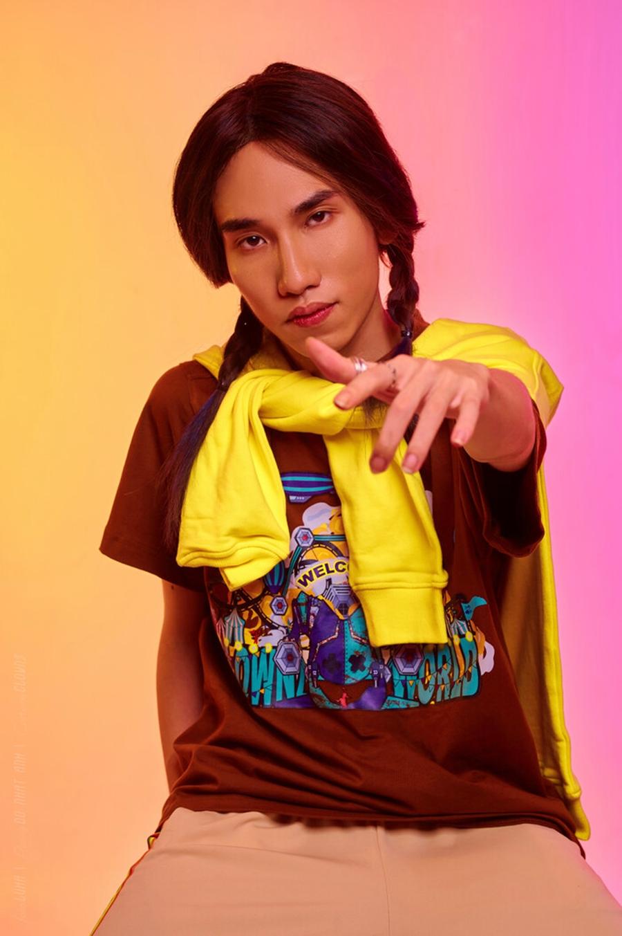 Rapper Chị Cả - chủ nhân ca khúc Censored - tên thật là Đinh Thanh Tùng, sinh năm 1994. Anh từng tham gia show King of Rap và Rap Việt. Ảnh: KingofRap