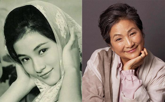 Trịnh Bội Bội thời trẻ và ở tuổi 75. Ảnh: HK01