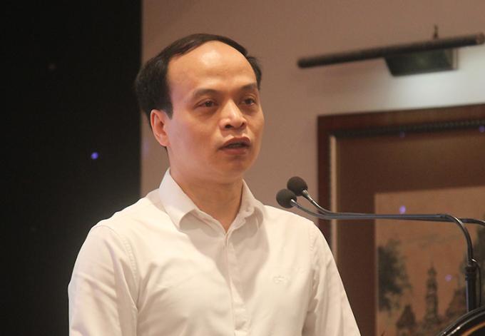 Ông Lê Minh Tuấn - Phó Cục trưởng Cục Nghệ thuật biểu diễn - tại sự kiện hồi tháng 4. Ảnh: Mai Nhật