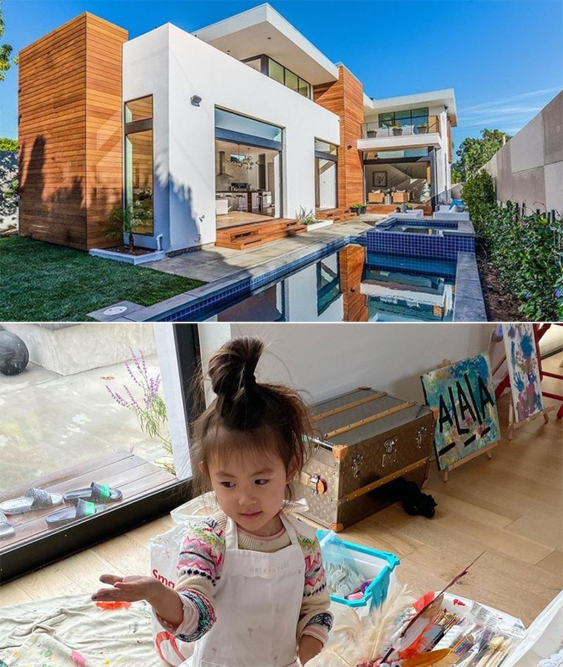 Con gái Trần Quán Hy trong căn nhà ở Mỹ. Ảnh: Instagram/Edison Chen