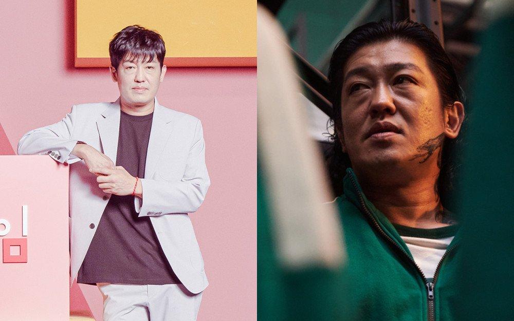 Heo Sung Tae trong vai tên tội phạm Jang Deok Soo phim Squid Game. Ảnh: Netflix