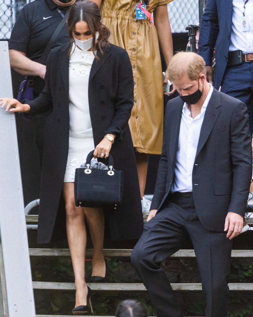 Meghan Markle và hoàng tử Harry ở sự kiện hôm 6/10.