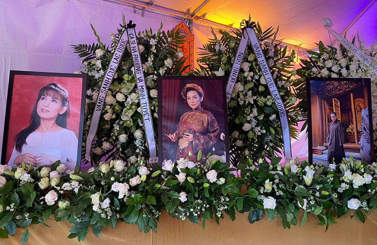 Gia đình không nhận vòng hoa viếng. Thay vào đó, mọi người có thể gửi tiền phúng điếu vào quỹ từ thiện cho quỹ từ thiện của cố nghệ sĩ để xây trường học và giúp đỡ nạn nhận Covid-19 tại Việt Nam.