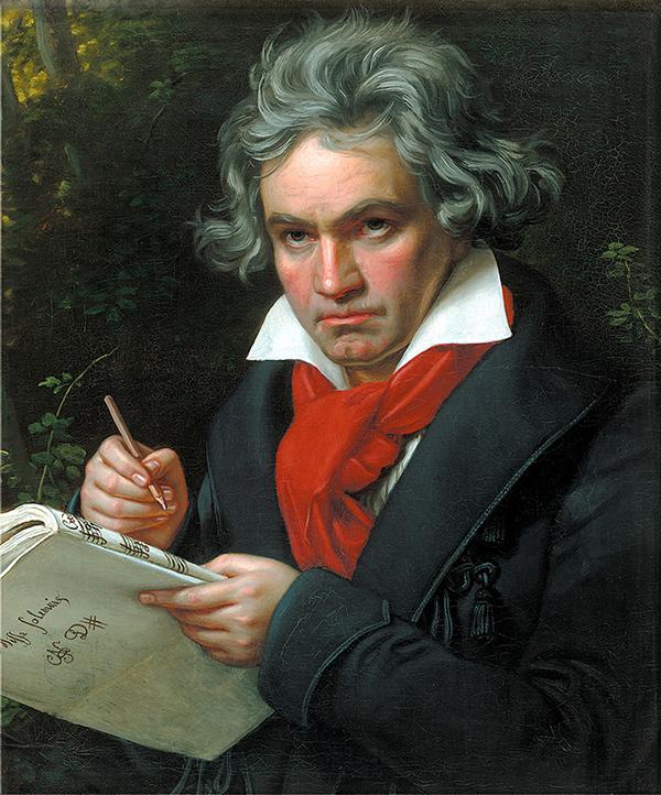 Chân dung Beethoven do họa sĩ Joseph Karl Stieler vẽ.